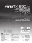 Yamaha TX-950 sivu 1