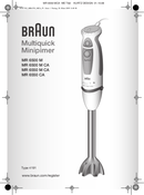Braun Multiquick 5 MR 500  pagina 1
