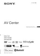 Sony XAV-601BT страница 1