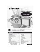 Sharp 32C540 side 1