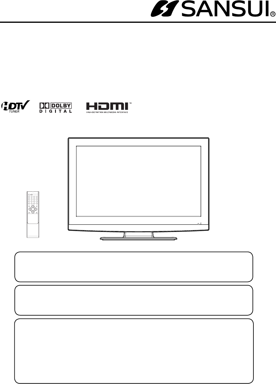sansui hdlcd3210 manual rh manualscat com Sansui Sr 717 Turntable Manual Sansui Product Manuals