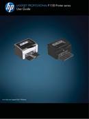 HP LaserJet Pro P1102 page 1
