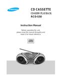 Samsung RCDS50 page 1