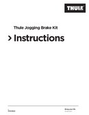 Thule Jogging Brake Kit sivu 1