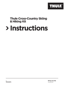 Thule Cross-Country Skiing Hiking Kit pagina 1