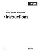 Página 1 do Thule Bicycle Trailer Kit