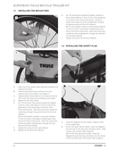 Página 4 do Thule Bicycle Trailer Kit
