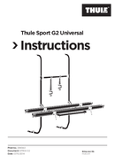 Thule Sport G2 Universal Seite 1