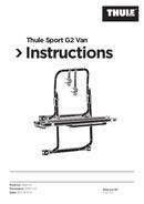 Thule Sport G2 Van sayfa 1