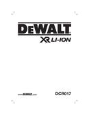 DeWalt DCR017 T 1 page 1