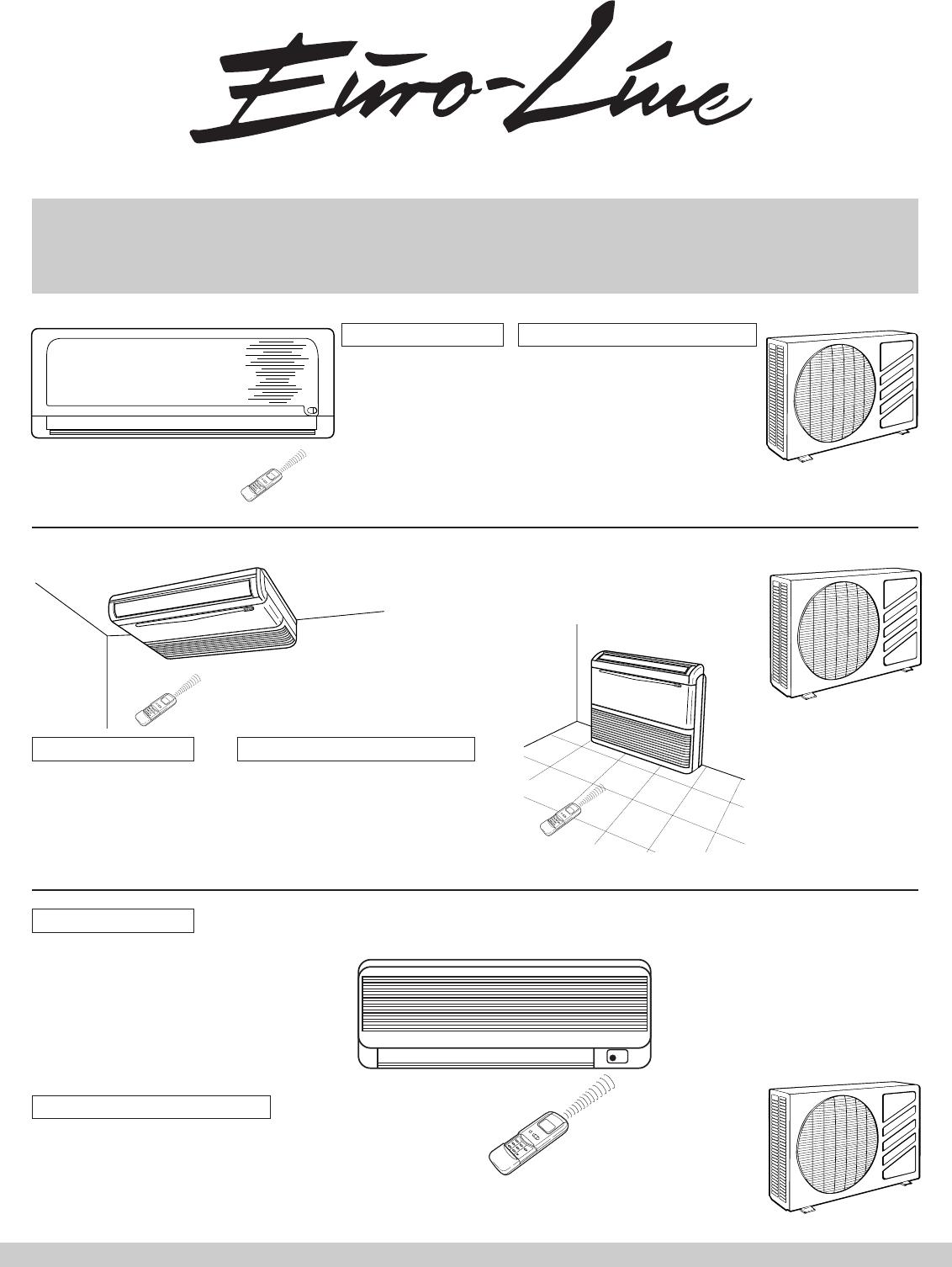 Euro-Line AWR318HLE manual