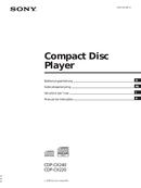 Sony CDP-CX220 side 1