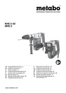Metabo KHE 5-40 Seite 1