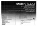 Yamaha K-1020 page 1