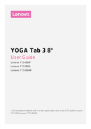 Lenovo YOGA Tab 3-8 sivu 1