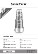Página 1 do SilverCrest Nutrition Mixer