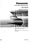 Panasonic RX-FS440 page 1