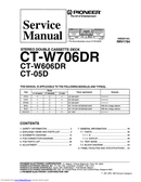 Pioneer CT-W706DR page 1