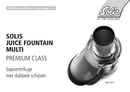 Solis Juice Fountain Multi Type 847 pagina 1