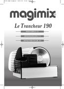 Página 1 do Magimix Le Trancheur 190