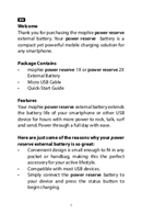 Mophie power reserve 1X page 4