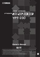 Yamaha PSR-E233 page 1