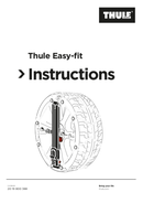 Thule Easy-fit CU-10 page 1