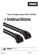 Página 1 do Thule WingBar Edge 9595