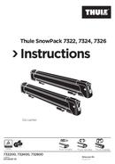 Thule SnowPack 7324 sivu 1