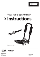 Thule Hull-a-Port Pro 837 Seite 1