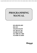 Uniwell dx 895 programming manual.