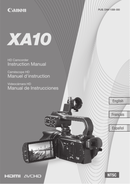 Página 1 do Canon XA10