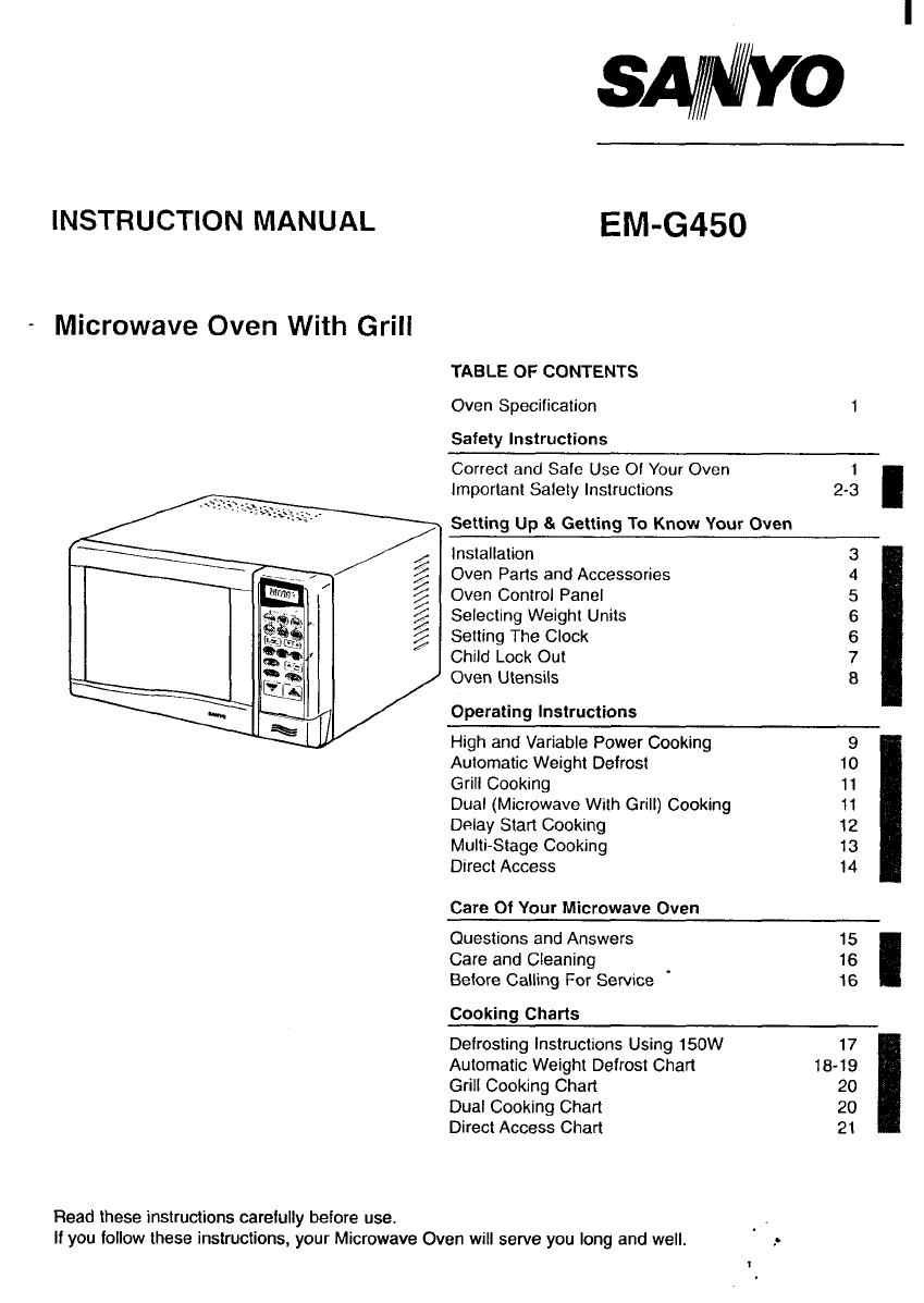 Sanyo Em G450 Manual