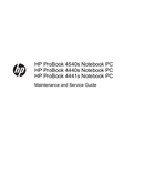 HP 4540s page 1