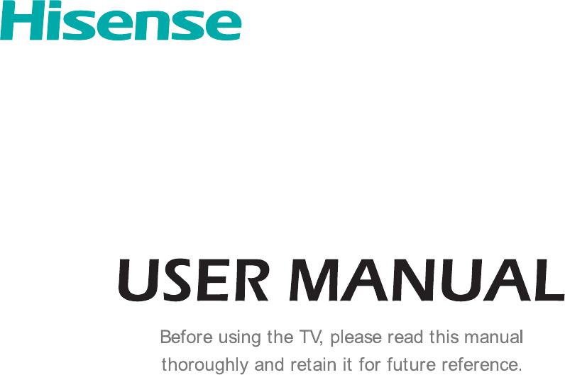 Hisense 65K3500PW manual