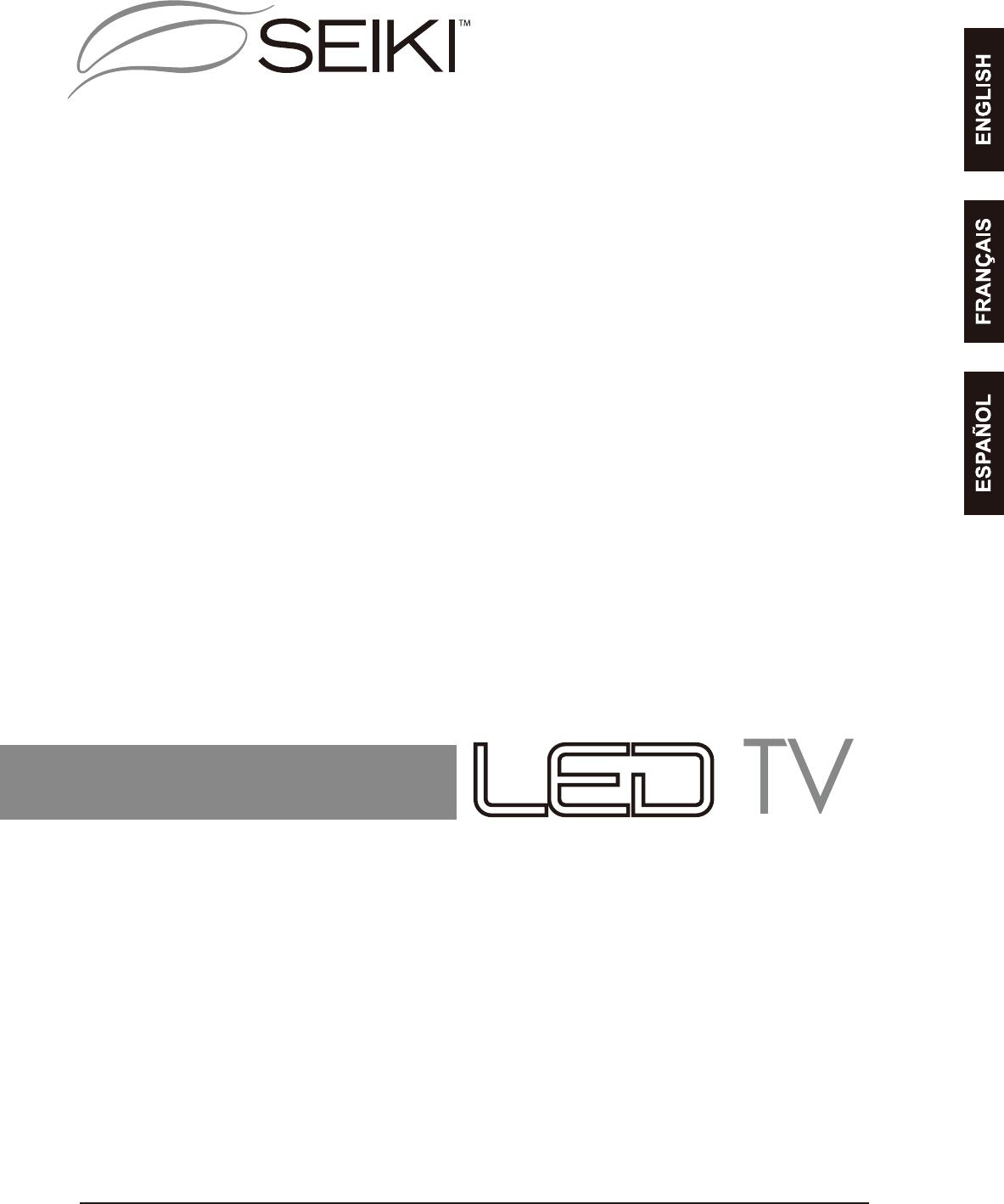 SEIKI SE24FL TV REMOTE CONTROL AND USER MANUAL 20408