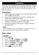 Página 5 do Doro PhoneEasy 110
