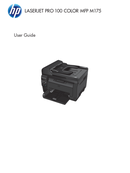 HP LaserJet Pro 100 Color MFP M175a side 1