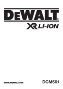 DeWalt DCM561 side 1