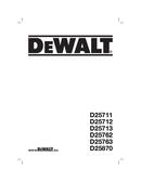 DeWalt D25711 page 1