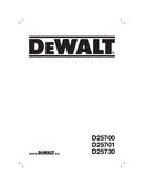 DeWalt D25700 page 1