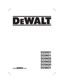 DeWalt D25501 page 1