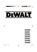 DeWalt DW981 page 1