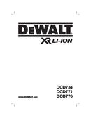 DeWalt DCD734 page 1
