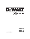 DeWalt DCD776 page 1