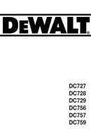 DeWalt DC756 pagina 1