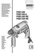 Bosch PSB 500 RE page 1