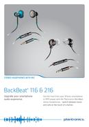 Plantronics BackBeat 216 page 1