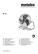 Página 1 do Metabo AV 18