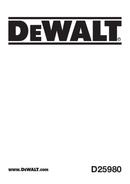 DeWalt D25980 pagina 1
